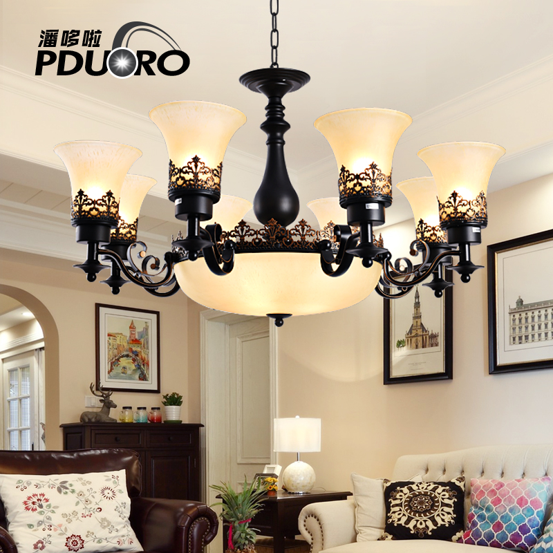 New Modern E27 LED Chandelier For Living Room Lampshade glass Dining Hanging Light Fixtures Lustres para sala de jantar Lighting modern crystal chandelier hanging lighting birdcage chandeliers light for living room bedroom dining room restaurant decoration