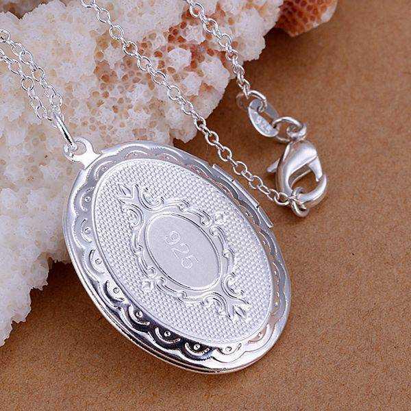 Darmowa wysyłka hurtownie dla kobiet moda biżuteria naszyjnik łańcuszkowy posrebrzany wisiorek ramka na zdjęcia naszyjnik SP163