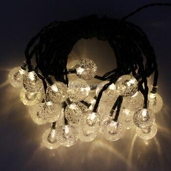 Solar Powered 6m 30leds Fairy String Lights, Globe Ball Decorative Garden Lawn Christmas Tree Wedding Party Lights