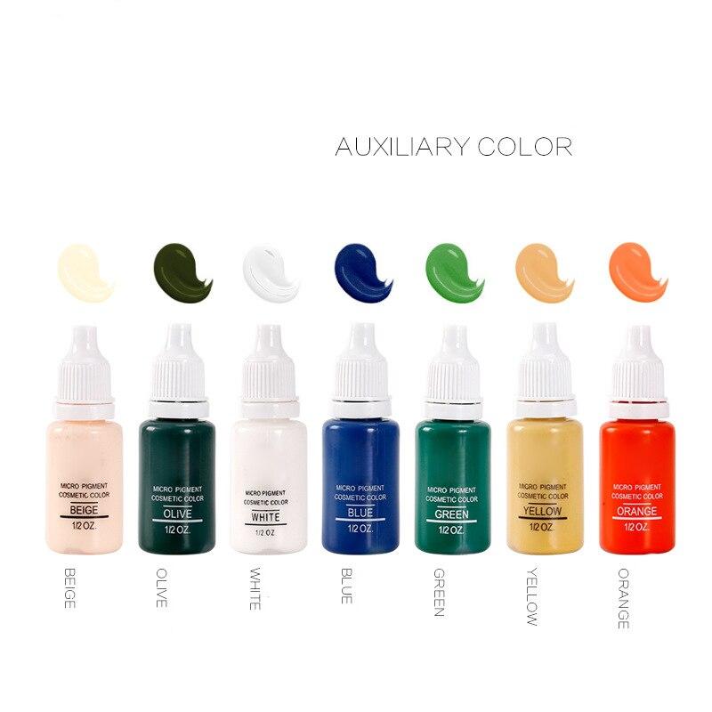 Pigmento da Tinta para Maquiagem Sobrancelha Delineador Lip Tintas Tattoo