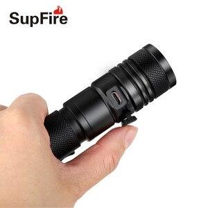 Image 4 - Supfire Zoom lampe de poche Linterna LED 18650 Mini lampe torche 2000lm lanterne A2 USB Flash lumière EDC Latarka Camping travail lumière
