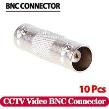 10 шт. BNC Женский встроенный соединитель для коаксиального кабеля, байонетный коннектор Соединительная муфта для камеры видеонаблюдения системы видеонаблюдения