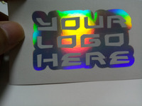 Waterproof UV coated logo label sticker printing