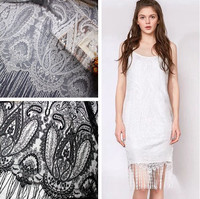 Ciglia Off White & Black Lace Trim Mesh Decorazione Nastro di Pizzo Artigianato Cucire La Decorazione Del Merletto Per Il Vestito Da Sposa