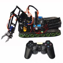 Remote Control Robot Tank Toys RC Robot Chassis Assemble Kit With Servo PS2 Mearm RC Toys Gift(China)