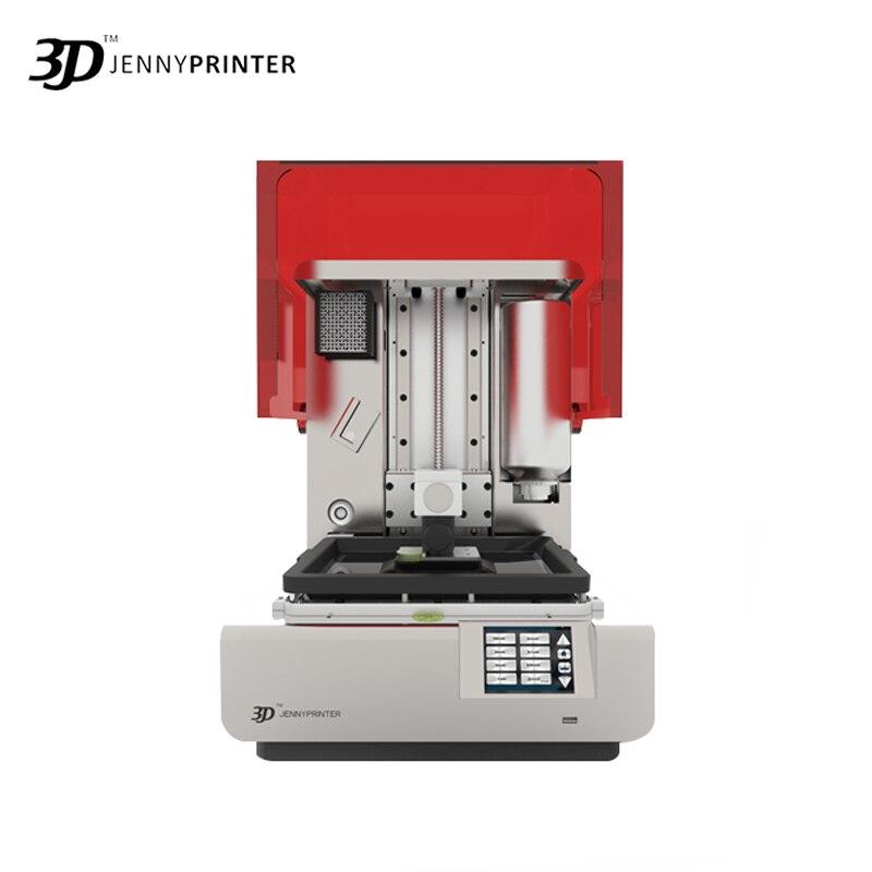 2019 Luz JennyPrinter 2 Grande Tela Sensível Ao Toque de Resina UV Impressora com Câmera LCD 3D Rédea Livre Lavável com Água 500ml