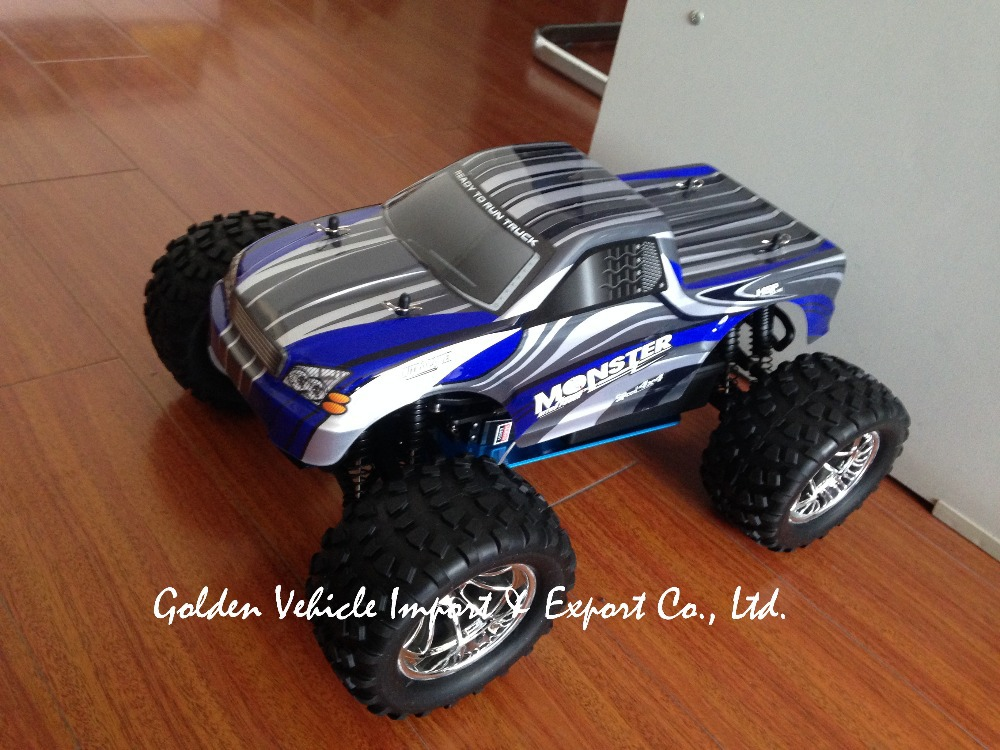 HSP 94188 1/10th Scale Nitro Off Road Monster Truck 2.4GHZ RTR RC Car Pivot Ball Suspension 18CXP Engine+ FS GT2 radio set 02023 clutch bell double gears 19t 24t for rc hsp 1 10th 4wd on road off road car truck silver