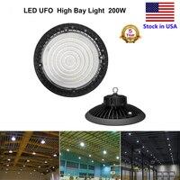 Ultra thin 5000K UFO LED High Bay Light 200W 150W 100W LED Shop Lights Outdoor Light Factory Warehouse Lighting, ETL Listed