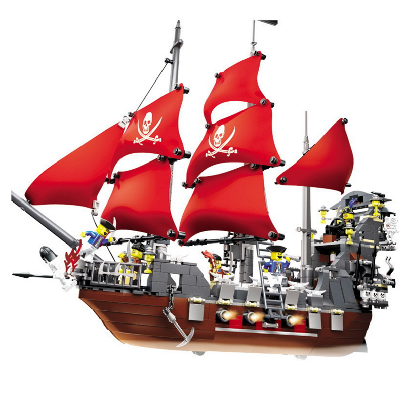 1123pcs Pirates Ship King 3D Blocks Educational Model Building Toys Hobbies For Children Compatible With LegoINGly City 804pcs black pearl ship bricks sale pirates of the caribbean building blocks toys for children compatible with legoingly city