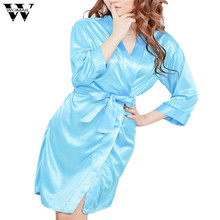 Amazing 4 Colors Summer Spring Women Bathrobe Sexy Lingerie Sleepwear Nightdress Nightgown Bath Robes drop Shipping