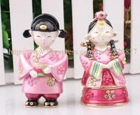 Wedding Couple Treasure Keepsake Box Happiness Couple Trinket Box Holder Wedding Couple Ornament Gift Trinket Box