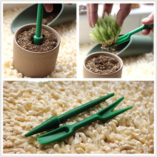 2pcs/set lifter dig seedlings + a planting tool Sowing punch Garden Tools Planting hole punch  transplant seedlings device garden tools dig erected seedlings wholesale special handmade forged manganese steel big shovel tuba