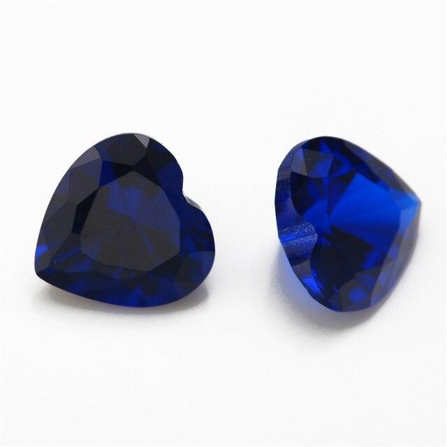 Размер 3x3 ~ 10x10 мм в форме сердца голубой цвет для ювелирных