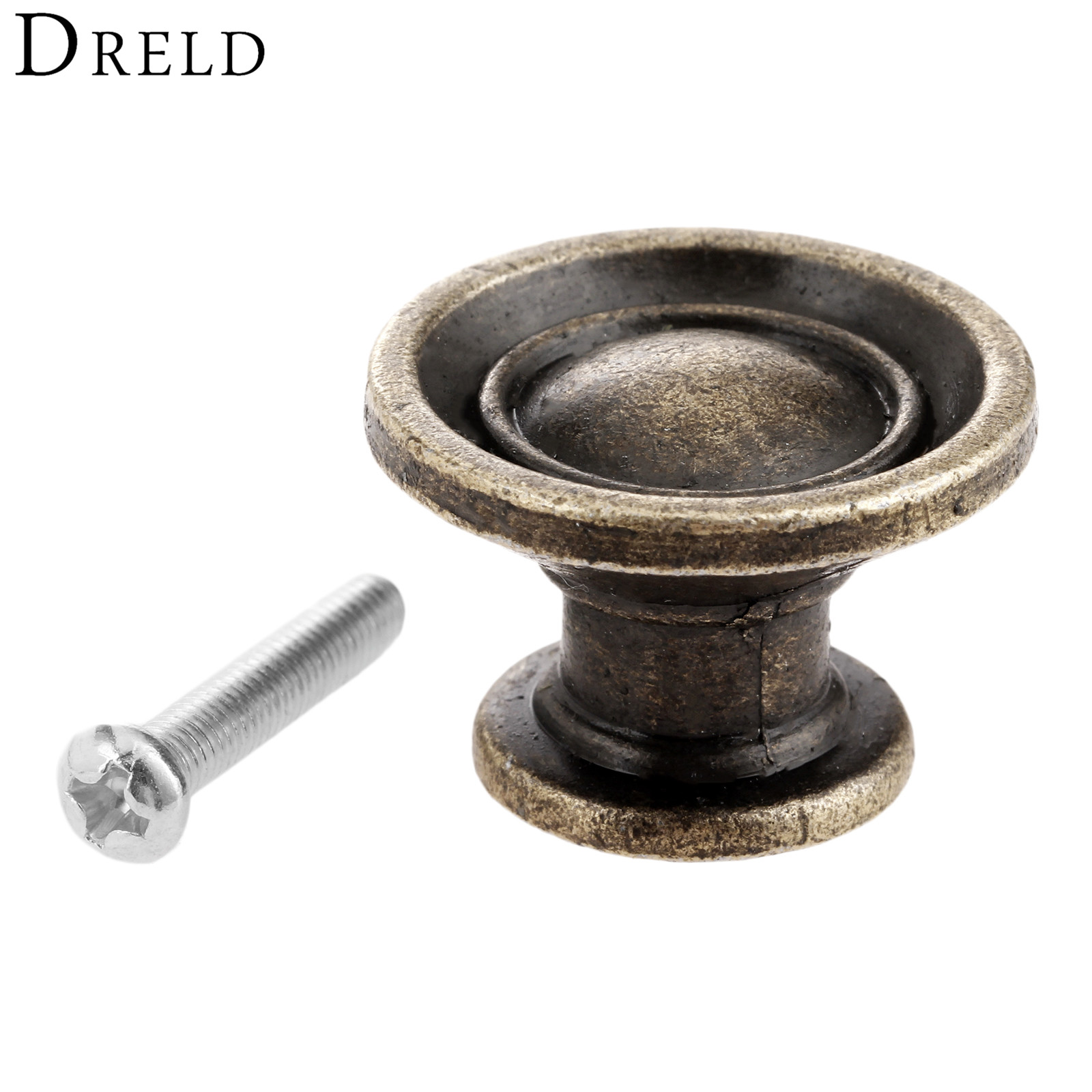 DRELD 1Pc Antique Bronze Furniture Handle Cabinet Knobs and Handles Kitchen Drawer Cupboard Pull Door Handles Furniture Fittings 1 pair vintage furniture cupboard wardrobe handles and knobs antique bronze alloy kitchen cabinet door drawer pull handle 64mm