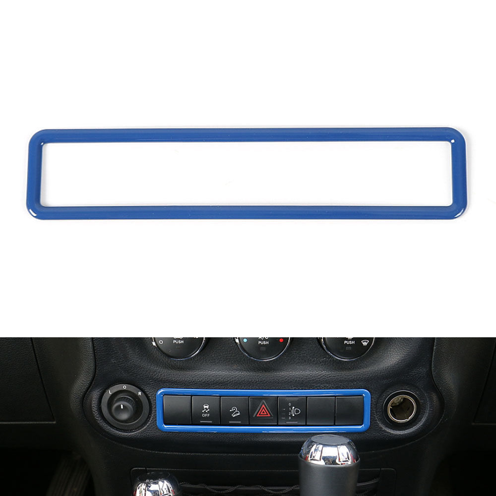 4 Colors ABS Dash Emergency Light Switch Control Trim Cover Frame Decoration For 2011-2016 Jeep Wrangler Car Styling Covers