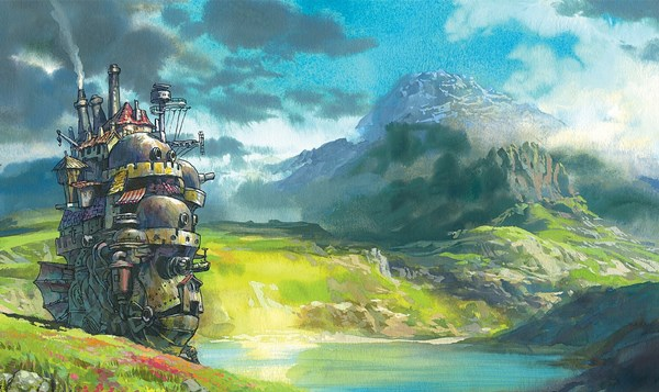 Us 9 91 45 Off Digital Art Fantasy Art Nature Lake Rock Hill Mountain Clouds Mist Metal Chimneys Home Decoration Canvas Poster In Painting