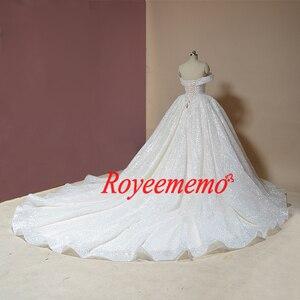 Image 3 - 新夜会服のウェディングドレス光沢のあるウェディングドレスカスタムメイド工場卸売価格ロイヤル電車ブライダルドレス