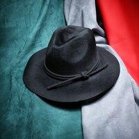 2016 דפוס חדש באיכות גבוהה קוריאנית כובע צמר אירופה 100% כובע צמר ג 'אז משלוח רטרו גברים נשים כובע צמר משובח חינם