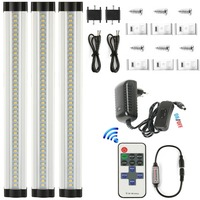 DMXY 3pcs/set Kitchen Cabinet Lights Slim Aluminum LED Bulbs light 220v wireless dimmable Linear bedroom under Cabinet Lighting