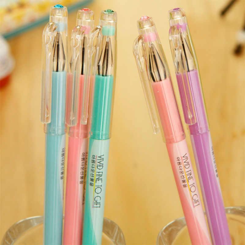 Jonvon Satone Gel stylo bureau et fournitures scolaires gelée couleur diamant neutre stylo écriture papeterie Kawaii école outil en gros