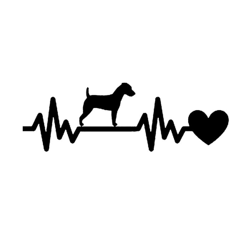19*6.4CM Jack Russell Dog Car Stickers Reflective Vinyl Decal Car Styling Motorcycle Accessories Black/Silver S1-0755