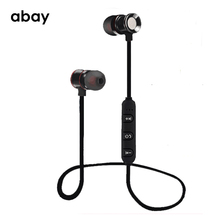 Bluetooth wireless sport Hifi super Bass Earphone with Mic Magnetic bluetooth headphones Headset Stereo Earbuds for moblie phone все цены