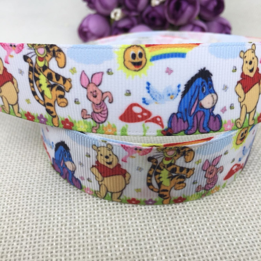 Winnie the Pooh /& Friends Character 25 mm Grosgrain Ribbon Card Making or Bows