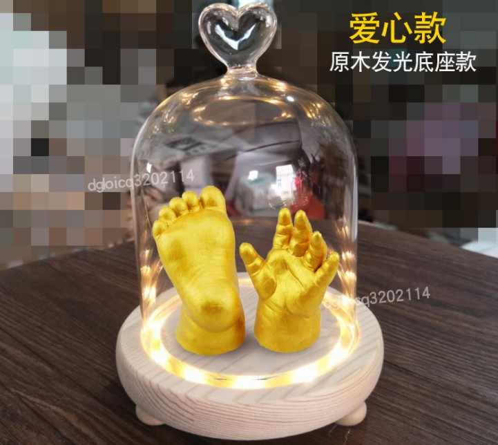 3D Детские руки ног печати гипсовая отливка комплект ручной модели ног трехмерный уход за младенцем чернила отпечаток отпечатка ноги подарок на память