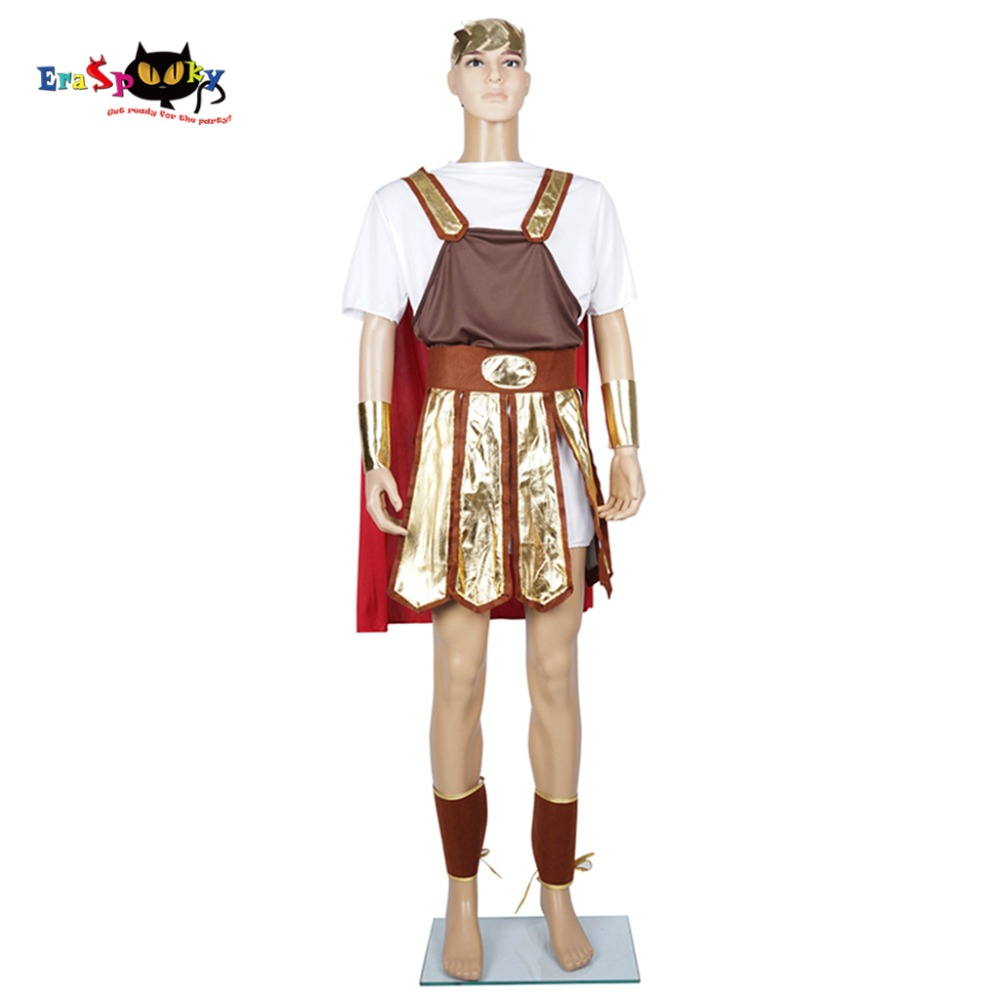 Soldier Cosplay Men Roman Warrior Costume Centurion Gladiator Trojan Fancy Dress Outfit for Party Carnival Holiday Halloween
