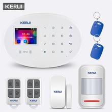 цена на KERUI W20 WIFI GSM Home Security Alarm System 2.4 Inch Touch Panel APP Control Door Sensor Infrared Sensor Smart Alarm System