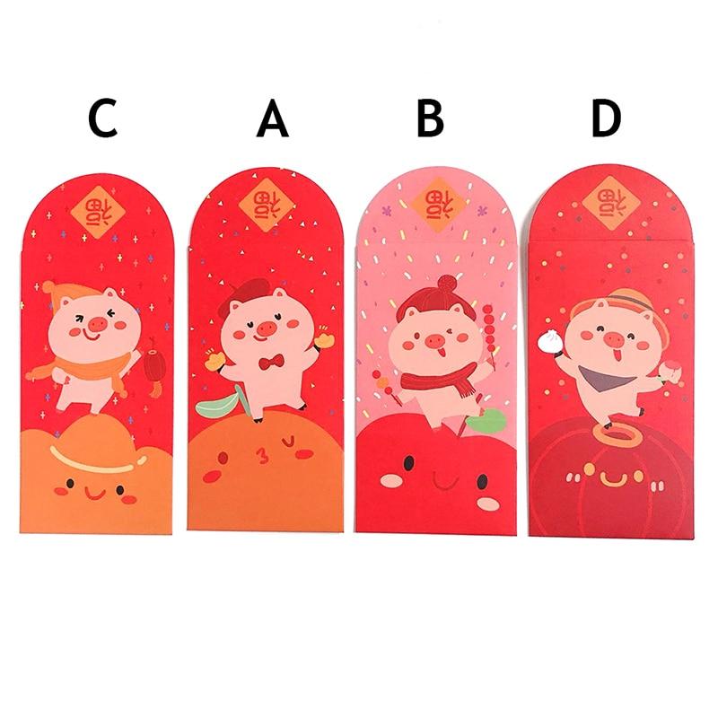Obliging Peerless 10 Pcs/pack Cute Pig Design Red Packet Red Envelope Birthday Gift Envelope Storage Escolar Office & School Supplies