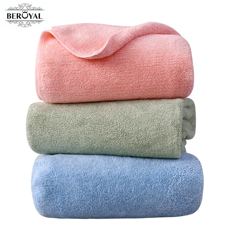 New 2019 Bath Towels For Adults 1PC/Set Summer Microfiber Beach Towel Gym Spa Swimming Sport Bathroom Body Towel 70x140cm Large