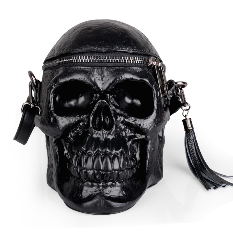 110318 new hot black 3D skull shoulder bag110318 new hot black 3D skull shoulder bag