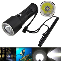 6000Lm XM L2 LED Underwater 100m Scuba Diving Flashlight Torch Lamp by 32650 Light