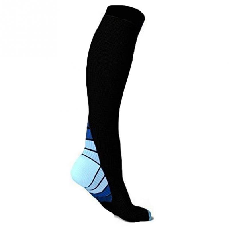 Unisex Absorbent Shaping Breathable Nylon Fitness Flight Compression Socks for Travel Circulation