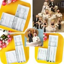 Fondant Plastic 6pcs Molds Woman Man Children Body Models Diy Cake Sugarcraft Tools Baking Moulds