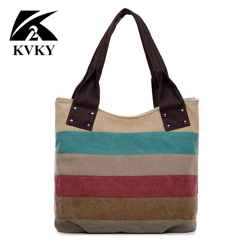 Hit Color Panelled Women Canvas Handbags Bags Cloth Art Leisure Portable Shopping Bag Tote 2016 summer mix color cloth art shoulder woman bag leisure packages exclusively for export national bag