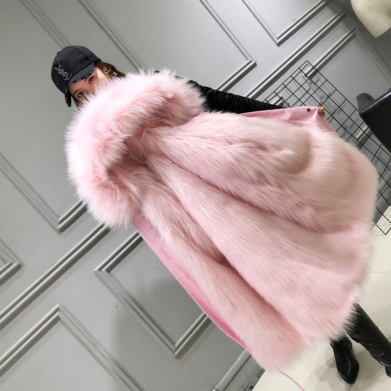 2018 Parka Winter Jacket Women Coat Mother Detachable Fur Liner Big Hooded Collar Cold Winter Women Parkas Thick Warm Parka women s thick warm long winter jacket women parkas 2017 fur collar hooded cotton padded winter coat female manteau femme 5l81