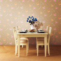 beibehang Modern minimalist garden floral beautiful quality PVC wallpaper living room bedroom wallpaper TV couch background wall