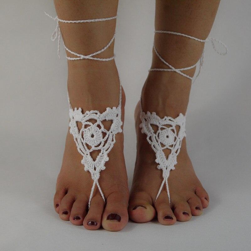 Único Los Patrones De Crochet Libre Para Las Sandalias Descalzas ...