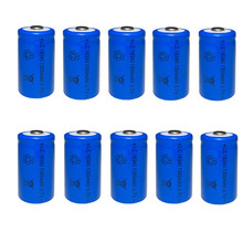 1300mAh Lithium Li-ion 16340 Battery CR123A Rechargeable Batteries 3.7V CR123 for Laser Pen LED Flashlight стоимость