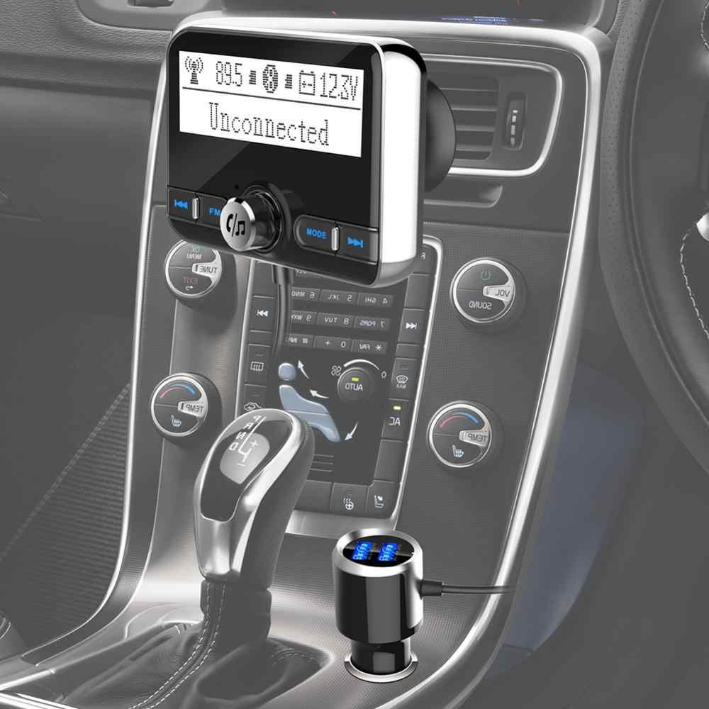 YASOKRO Bluetooth FM bezprzewodowy nadajnik modulator FM do samochodu samochód Mp3 odtwarzacz zestaw głośnomówiący zestaw samochodowy Bluetooth ładowarka z wyświetlaczem LCD