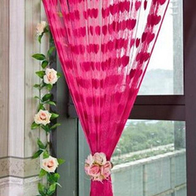Joli cœur motif chaîne rideau Beige classique ligne rideau fenêtre ...