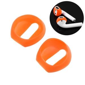 Image 4 - Funda de silicona para auriculares, 2 /1 pares, suave, ultrafina, antideslizante, para Apple, AirPods