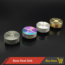 Volcanee 22mm 24mm 25mm 510 Metal Heat Sink for 510 thread Adaptor RDA RDTA Atomizer electronic cigarette Box Mod(China)
