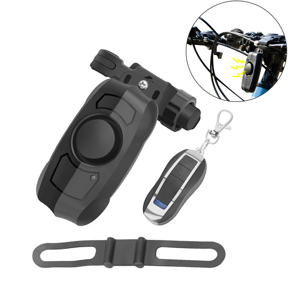 USB charging wireless remote control vibration alarm bicycle horn electric vehicle home burglar alarm bike bell cycling ring