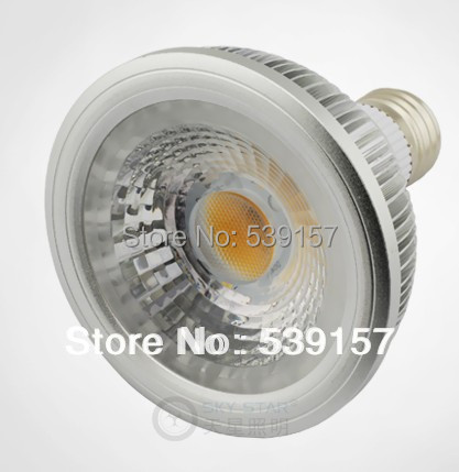Free shipping CRI 90% 1450lm E27 15W base Par30 Warm White/White/Cold White COB LED Spot bulb light  AC85~265V high quality 9w epistar led spot bulb e27 base par38 led light 900lm white ac85 265v ce