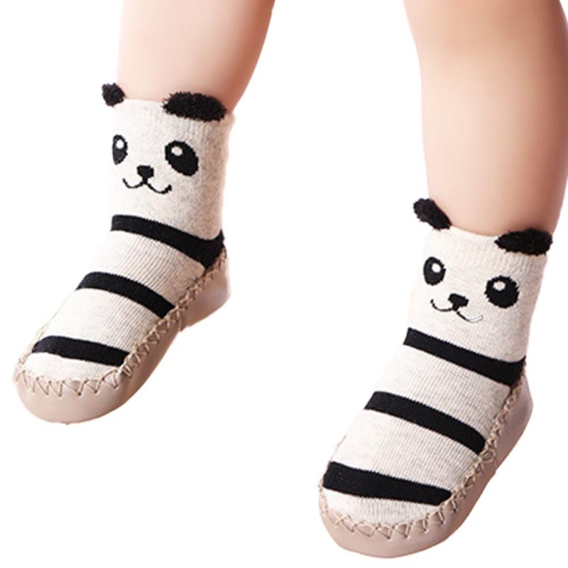 Newborn Kids Baby Girls Non-slip Coral Fleece Socks Indoor Shoes Socks 0-2Y