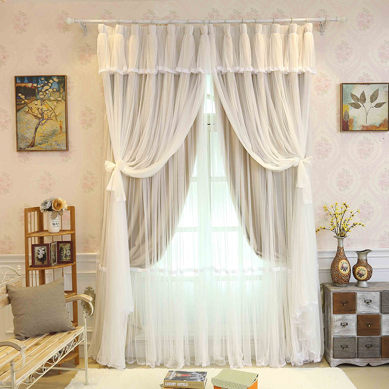 Korean Solid Lace Voile Cloth Curtains For Children Baby Bedroom Pink Cream Blackout D Tels Window Tulle Custom Size In From Home Garden