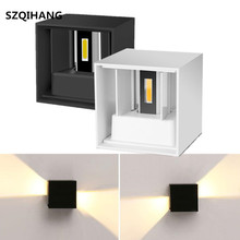 1PCS 12W Modern Brief Cube Adjustable Surface Mounted Outdoor LED Wall Light Waterproof Wall Sconce Lamp For Corridor Porch waterproof led wall sconce surface mounted light outdoor lighting adjustable angle up down creative exterior wall lamp porch led